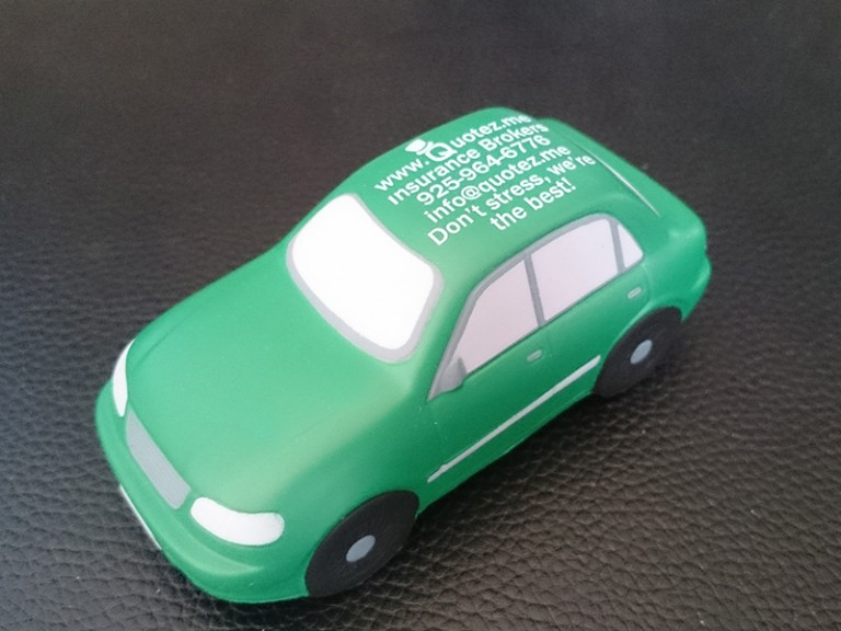 Squishy Green Car Corner Shot